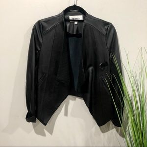 BB Dakota crop faux leather jacket XS